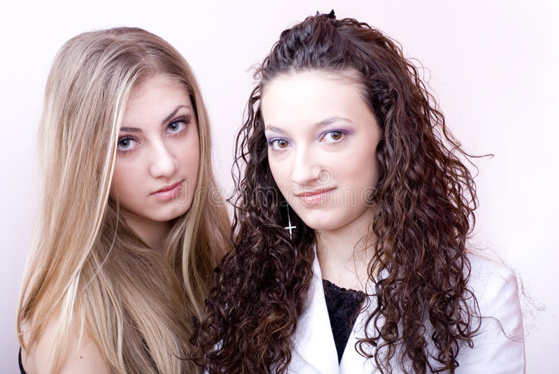 Download Two young women stock image. Image of smile, attractive - 2485451