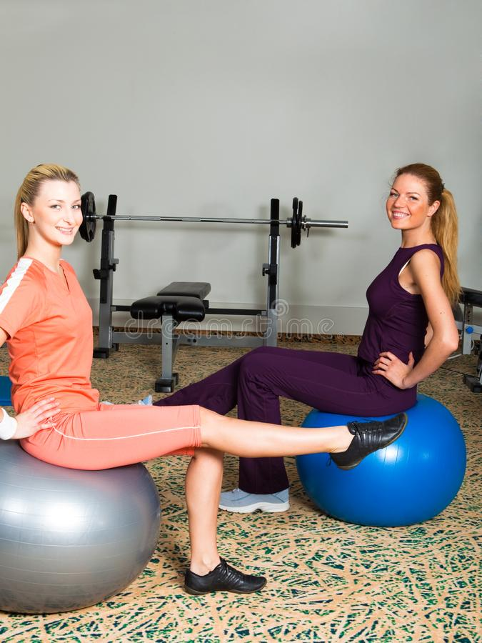 Download Two Young Women in Gym stock photo. Image of equipment - 14065948