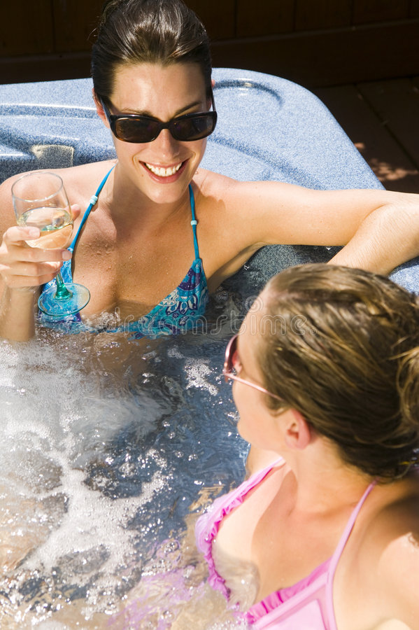 Download Two Young Women Relaxing In A Jacuzzi Stock Photo - Image: 1540570