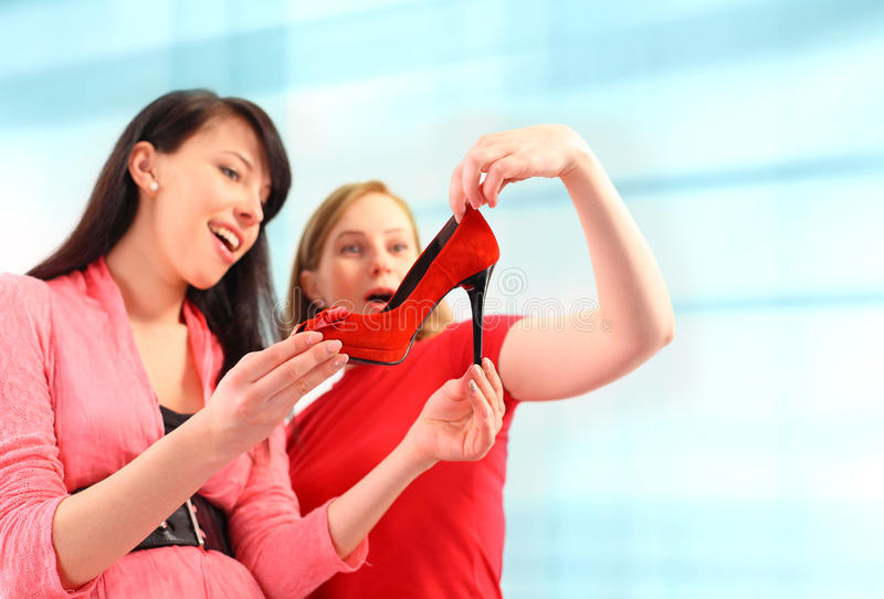 Download Two young women shopping stock image. Image of casual - 23345927