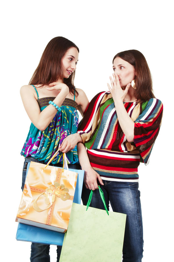 Download Two Young Women With Shopping Bags Stock Image - Image: 25519705