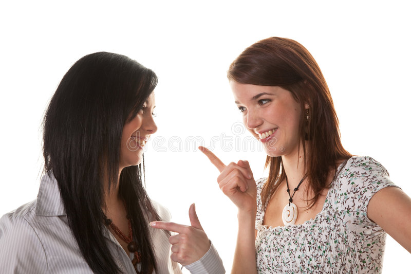 Download Two Young Women Whisper Together Stock Photo - Image: 8560920
