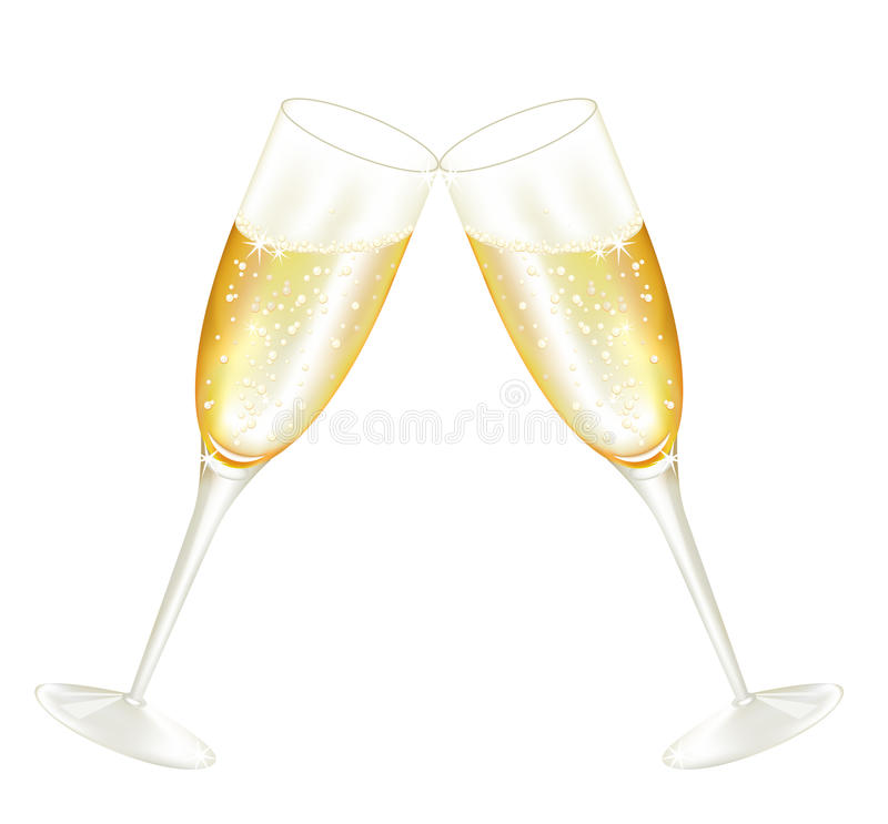 Twoo glases des Champagners vektor abbildung