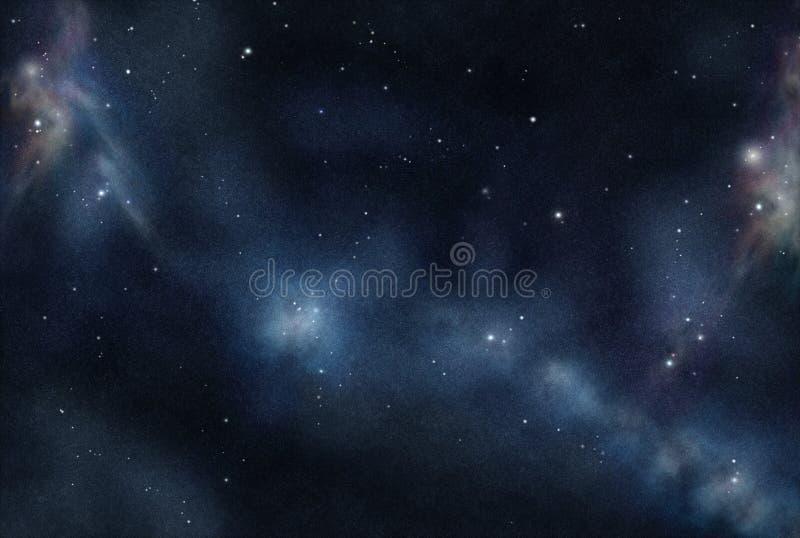 tworzący cyfrowy starfield ilustracji