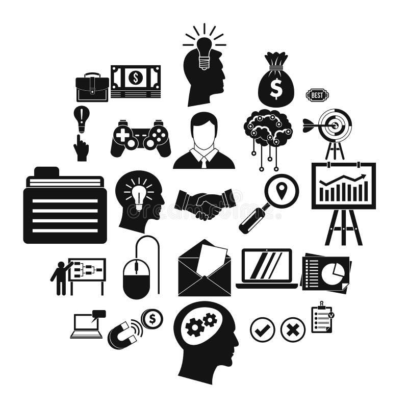 Tworzący gemowe ikony ustawiać, prosty styl royalty ilustracja
