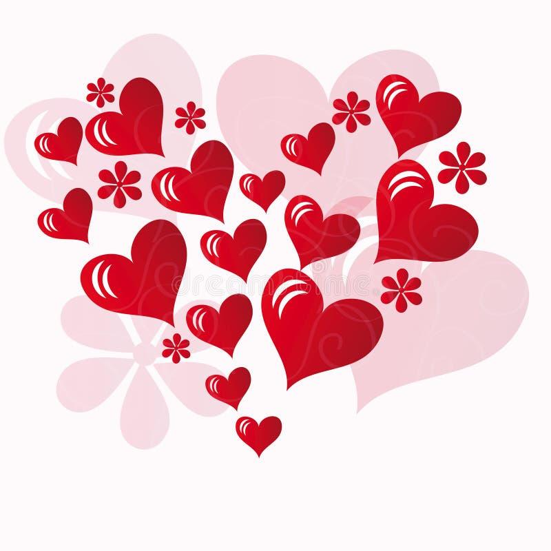 tworzący kierowych serc czerwony kształt mały royalty ilustracja