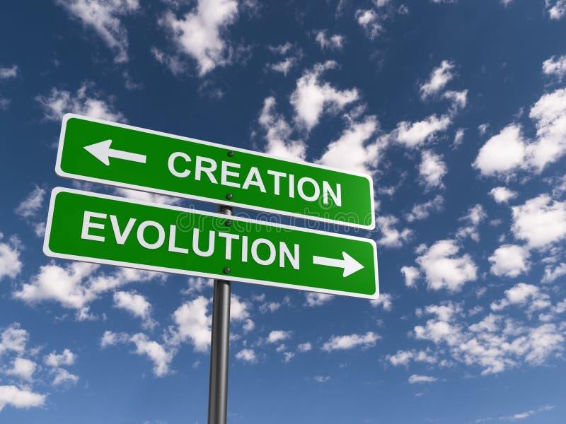 Tworzenia i ewoluci znak zdjęcia royalty free