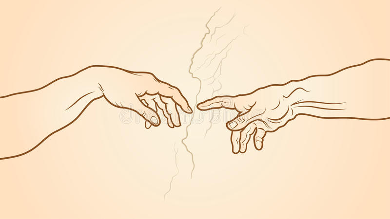 Tworzenie Adam czerep royalty ilustracja