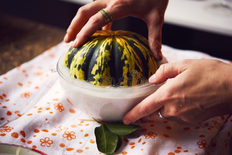 Tworzenie odcisk w gipsie, stosować sztuki twórczości, sezonowych warzywach i owoc, Provencal styleÑŽ obraz stock