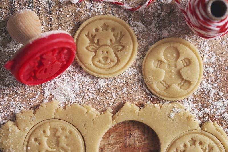 Tworzenie plików cookie dla programu Xmas fotografia stock