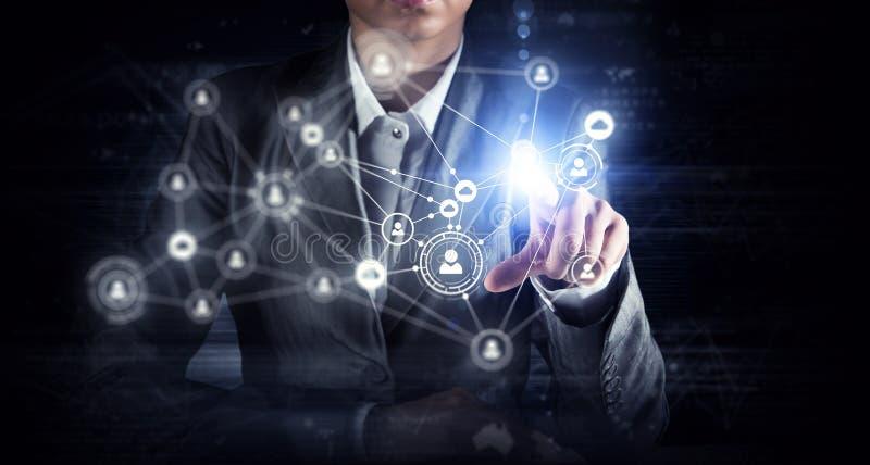 Tworzyć technologie bezprzewodowe Mieszani środki obrazy stock