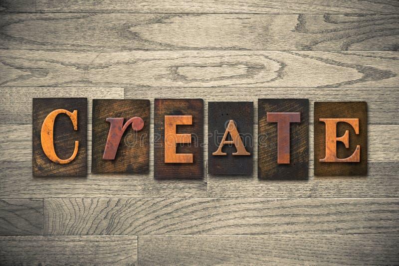 Tworzy Drewnianego Letterpress temat obraz stock