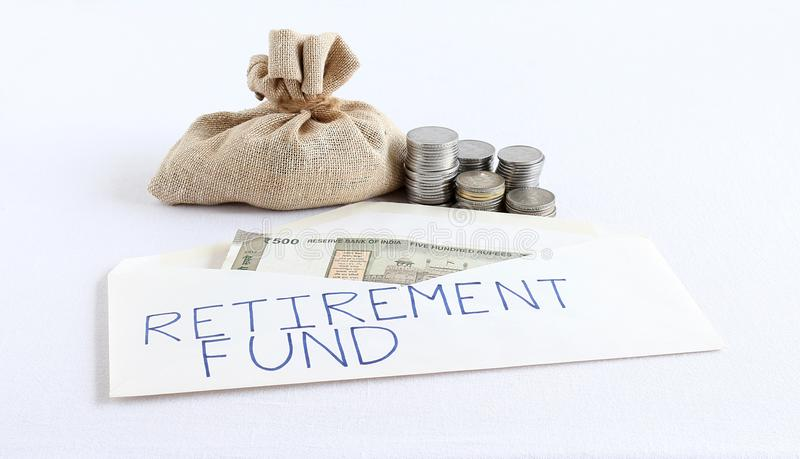 Tworzy fundusz emerytalnego od Savings pojęcia zdjęcia royalty free