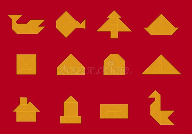 tworzy ikony tangram wektora ilustracji