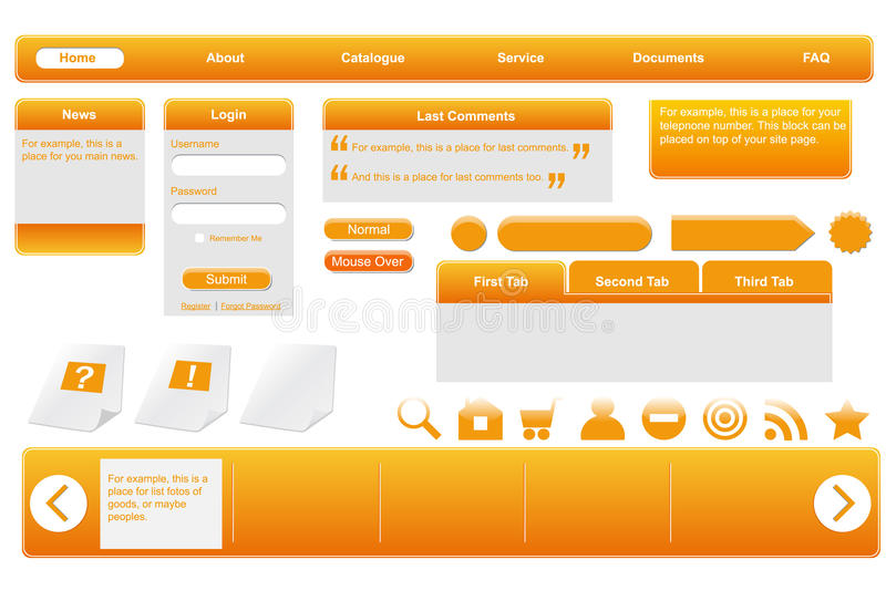 tworzy pomarańczową sieć ilustracja wektor