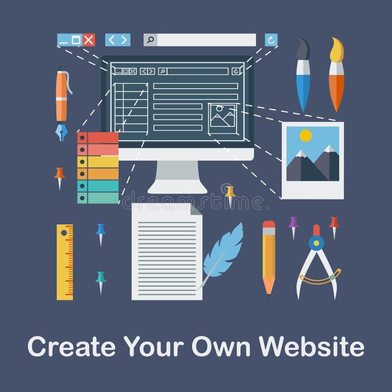 Tworzy Twój Swój stronę internetową ilustracji