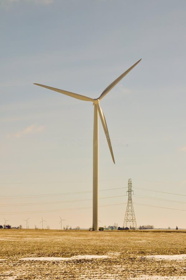 tworzy władzy turbina wiatr fotografia stock