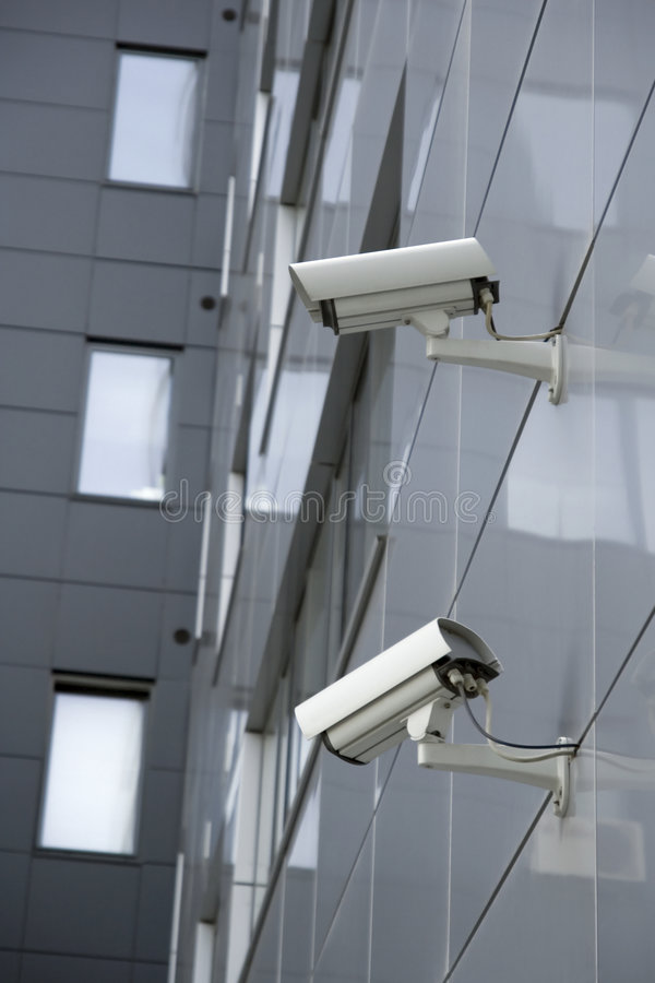 TwoSecurityCams photographie stock