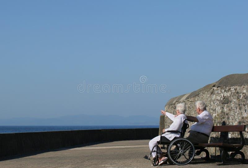 Twosome anziano fotografie stock
