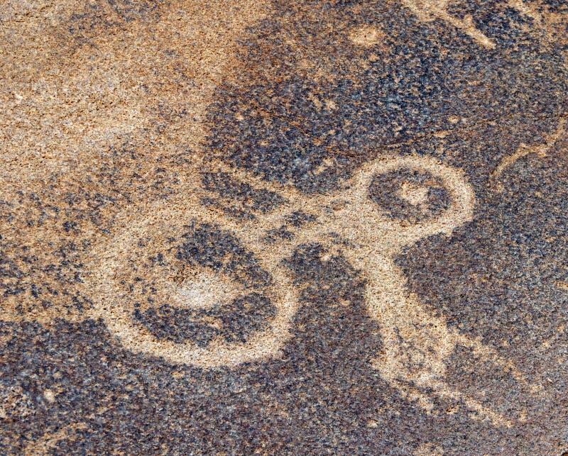 Twyfelfontein i Namibia, Afrika royaltyfri bild