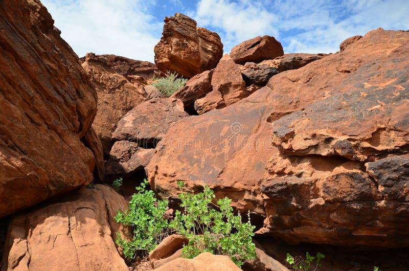 Twyfelfontein, Namibie photo stock