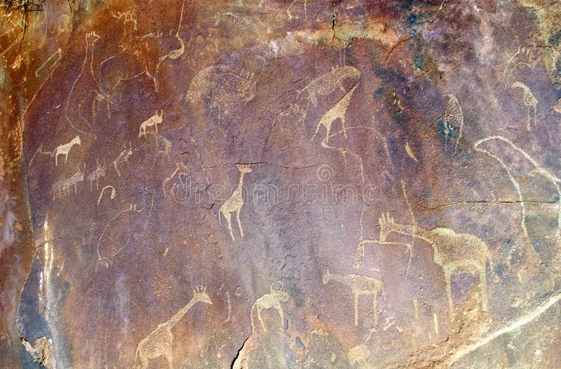 Twyfelfontein w Namibia, Afryka zdjęcia stock