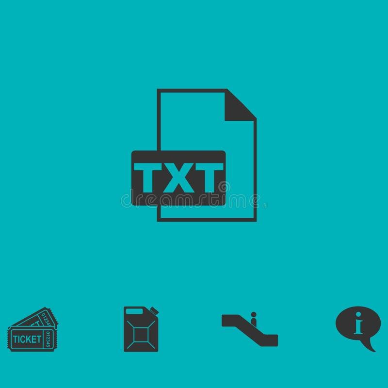 TXT-Dateiikone flach stock abbildung