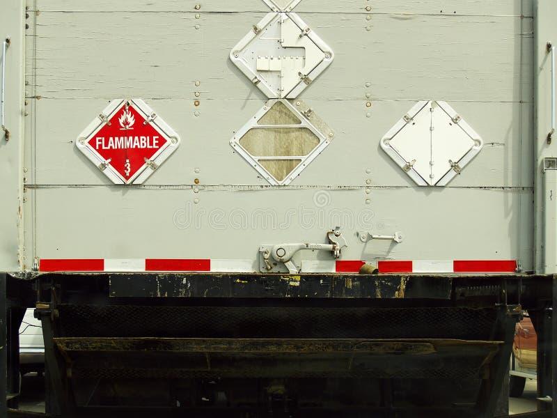 tył ciężarówki ładunku wielki przemysłowy widok obraz stock