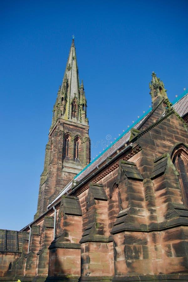 Tyły kościół i iglica obraz royalty free