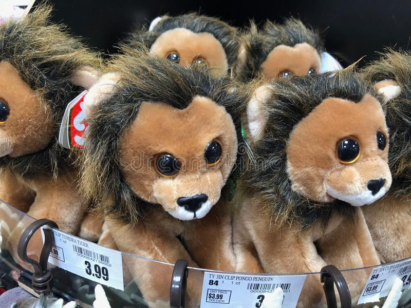 Ty Beanie Baby. Ty Beanie Babies being sold in a local Supermarket royalty free stock photos