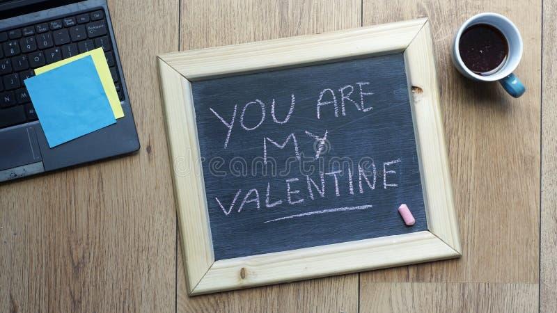 Ty jesteś mój valentine fotografia stock