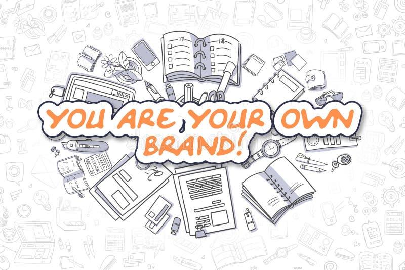 Ty Jesteś Twój Swój gatunkiem - Biznesowy pojęcie royalty ilustracja
