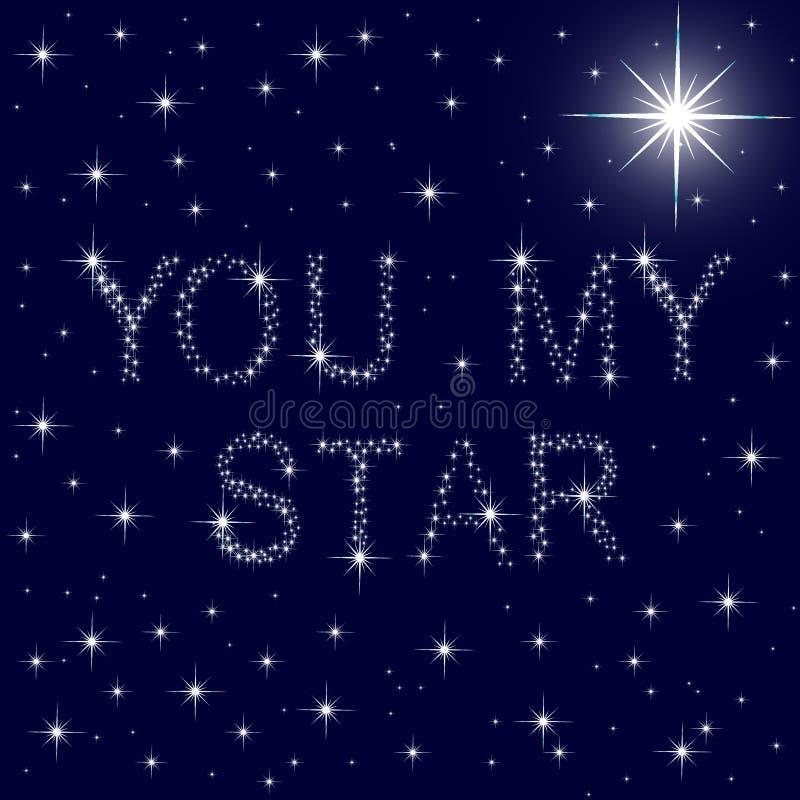 Download Ty Mój Gwiazdowy Gwiaździsty Niebieskie Niebo Ilustracja Wektor - Ilustracja złożonej z duży, jaskrawy: 28962490