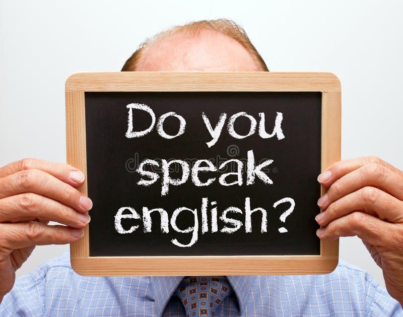 Ty mówisz angielszczyzna znaka obrazy royalty free