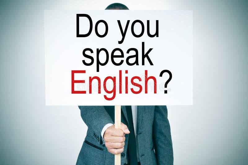 Ty mówisz anglików? zdjęcia royalty free