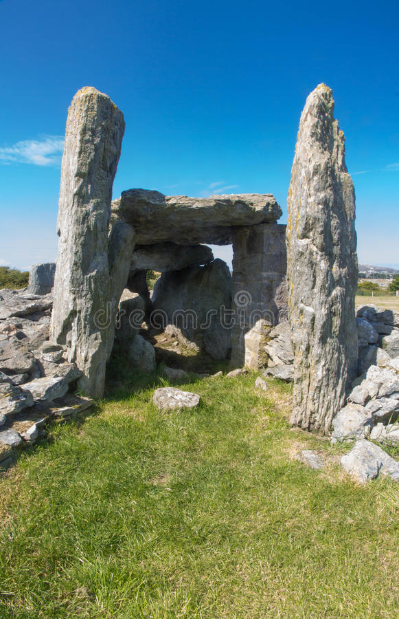 Ty Mawr Ancient Hut Circle On Holyhead, Anglesey Stock
