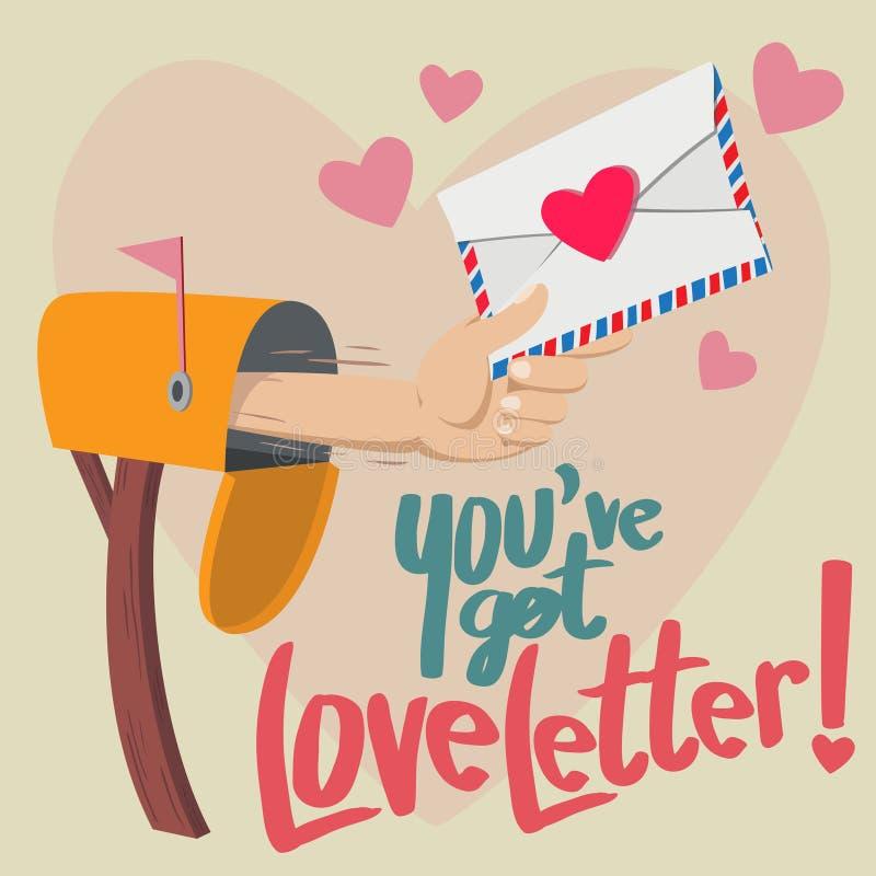 Ty miałeś list miłosnego! ilustracja wektor