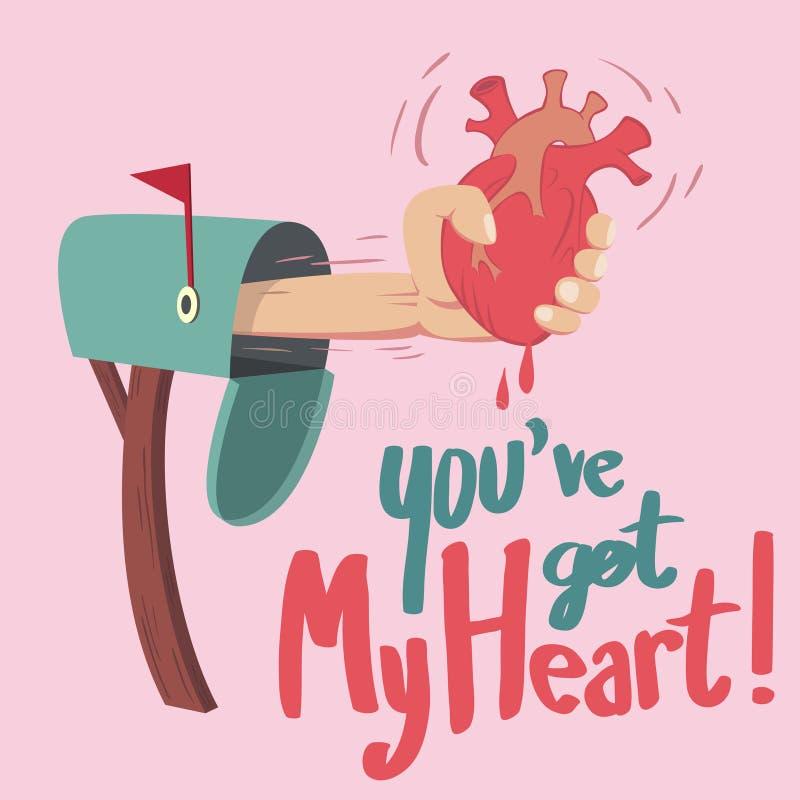 Ty miałeś serce! royalty ilustracja