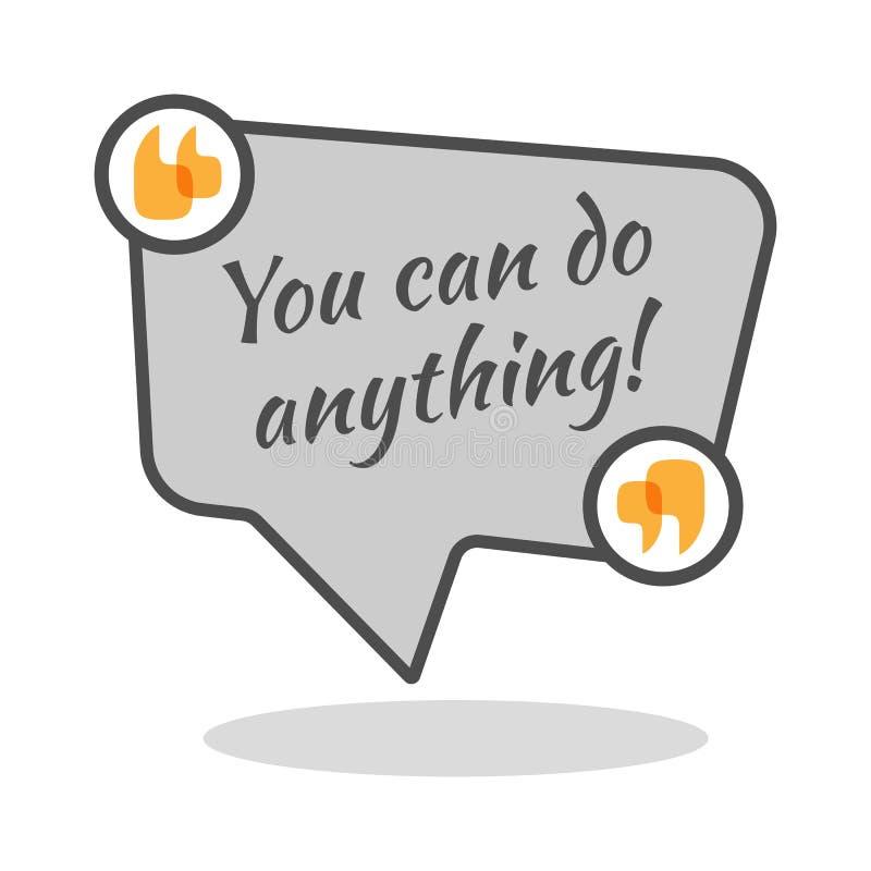 Ty możesz robić cokolwiek motywacyjny plakat w abstrakt ramie ilustracji