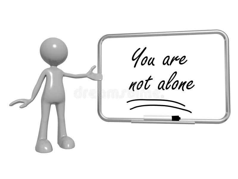 Ty no jesteś samotny na whiteboard ilustracja wektor