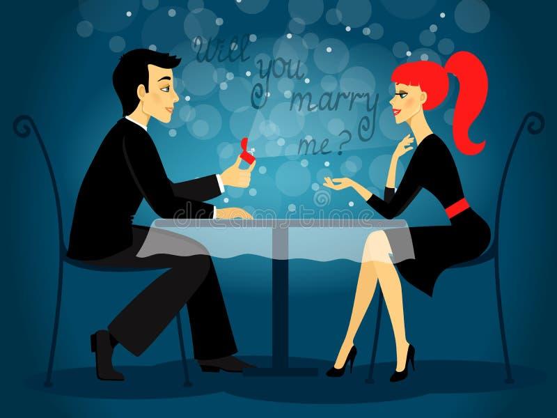 Ty poślubiasz ja, małżeństwo propozycja ilustracji