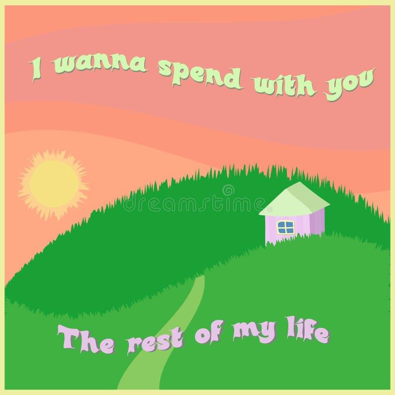 Ty poślubiasz ja pocztówkowy zdjęcie royalty free