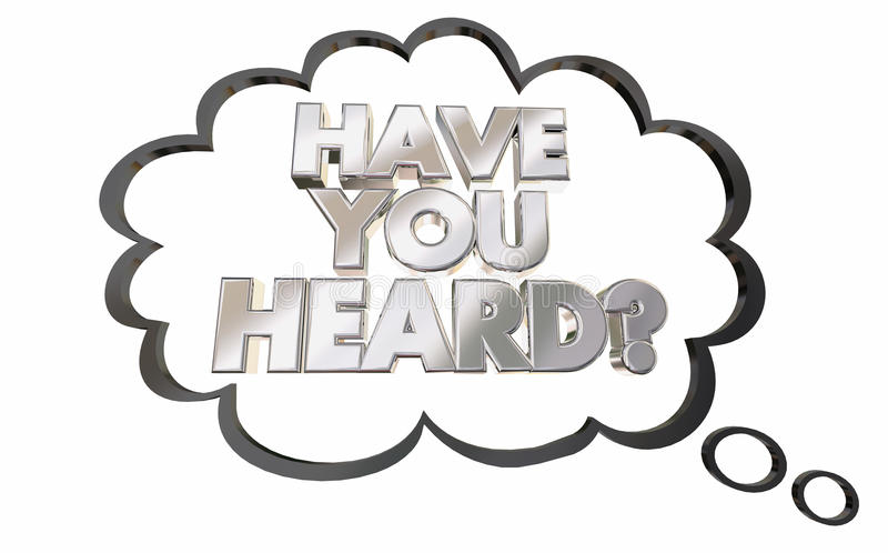Ty Słuchająca myśli chmury wiadomości plotka ilustracja wektor