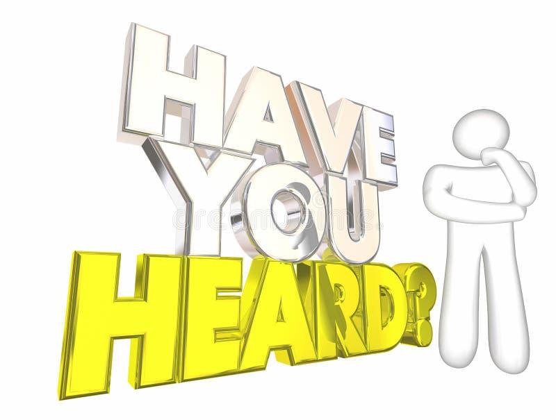 Ty Słuchająca Opóźnionej wiadomości plotki Myśląca osoba ilustracja wektor