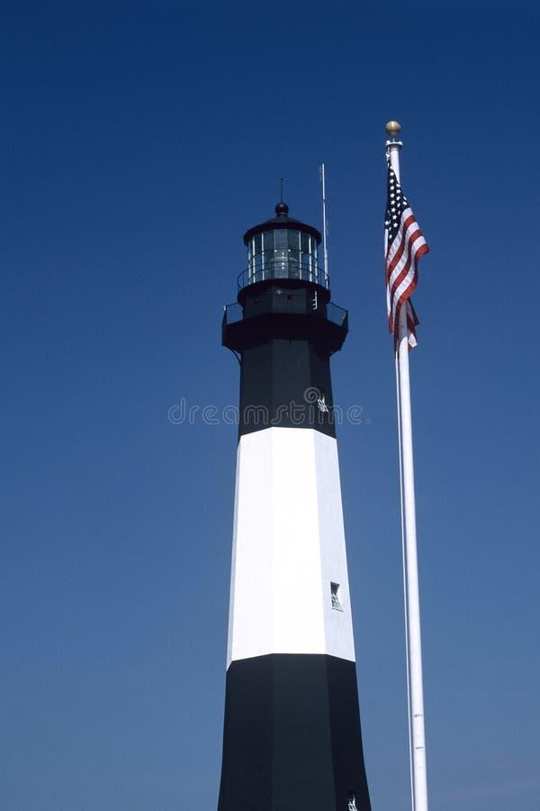 Download Tybee Insel-Leuchtturm stockfoto. Bild von weiß, hilfsmittel - 40376