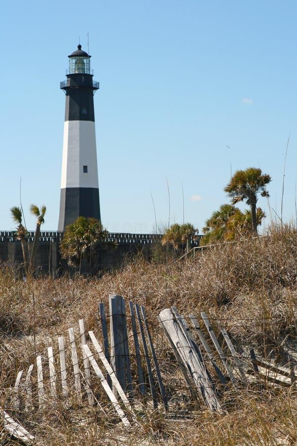 Tybee Island Lighthouse. On Georgia Coast near Savannah stock image