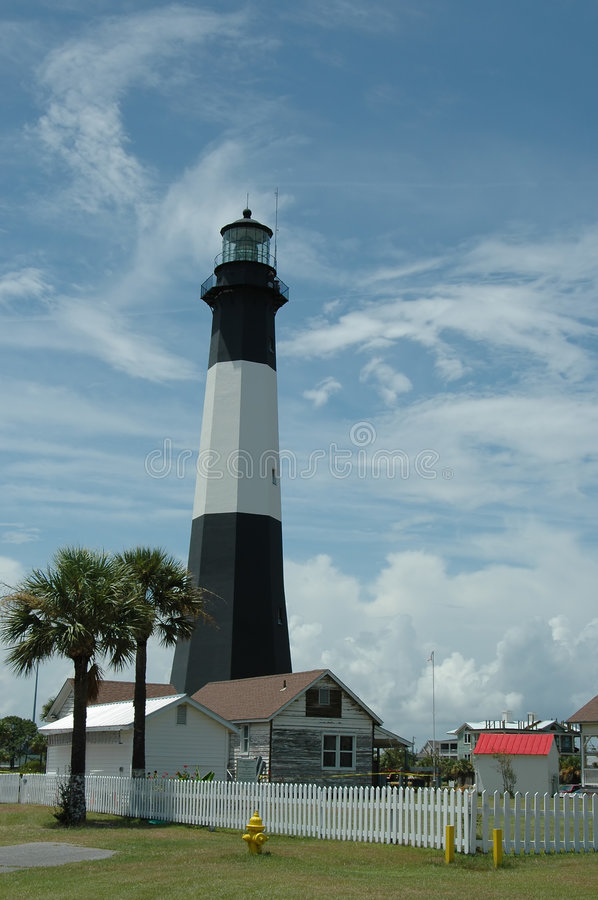 Download Tybee Island Lighthouse stock image. Image of station, river - 186475