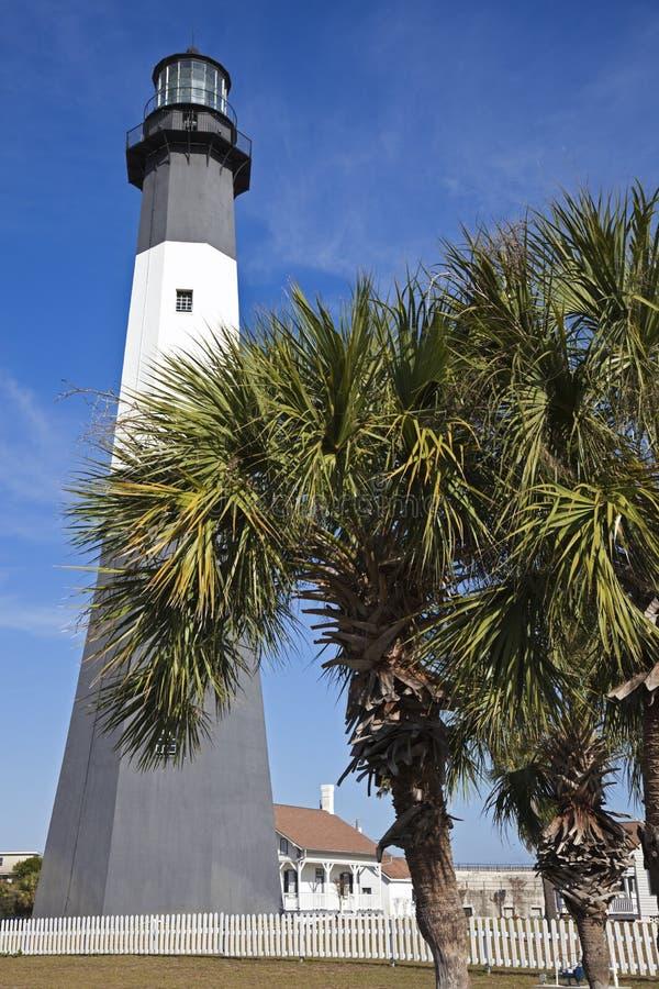 Tybee Island Lighthouse. In Georgia stock image