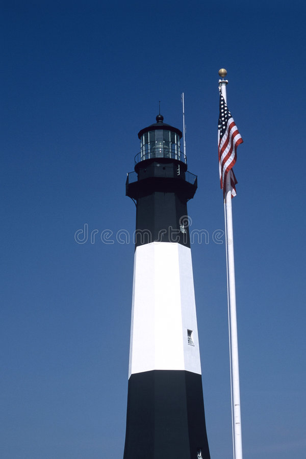 Download Tybee Island Lighthouse stock photo. Image of black, building - 40376