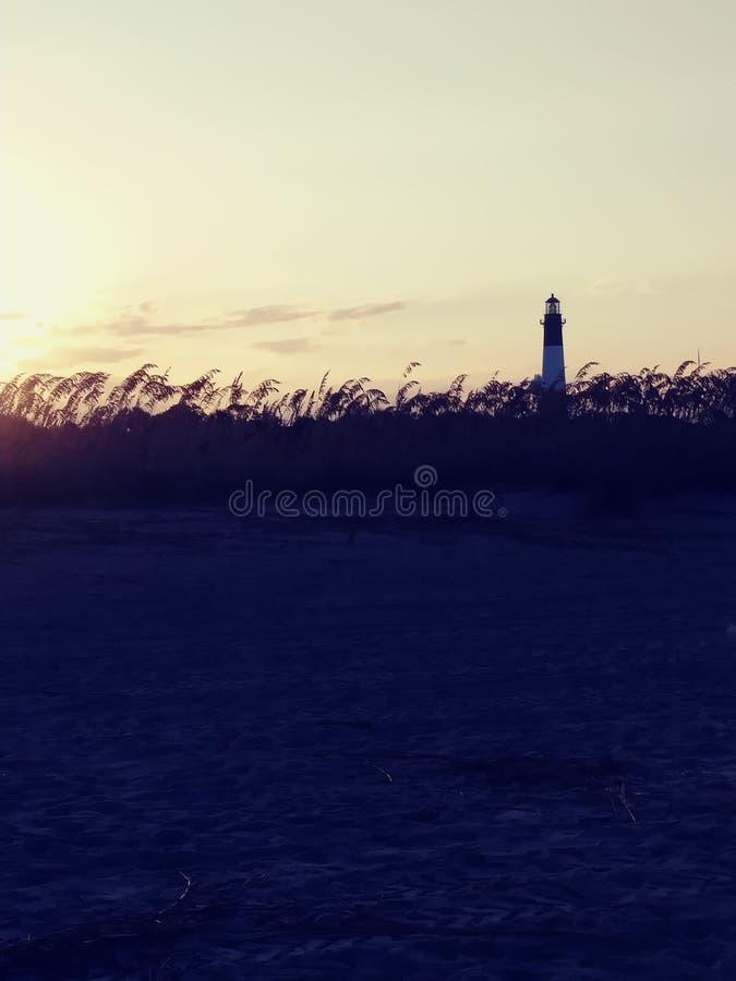 Tybee island lighthouse royalty free stock photo